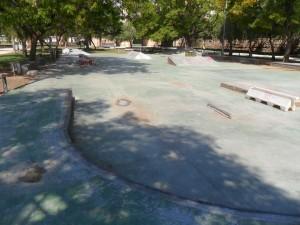 Foto de la vista del skateplaza de Valencia
