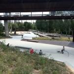 Vista general skateplaza Les Corts