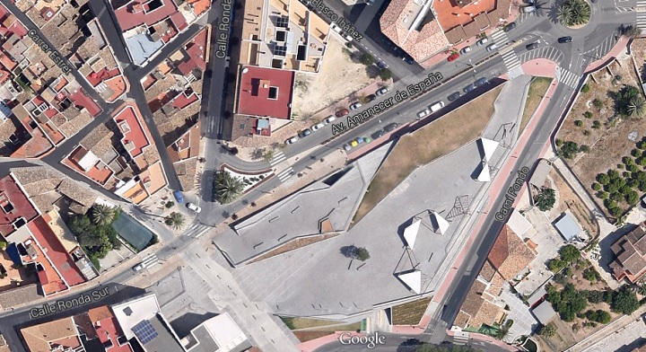 Localización del skatepark de Jávea