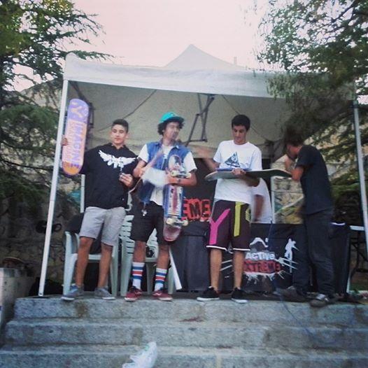 Foto de los ganadores de la categoría PRO 1º) Diego Cuevas 2º) Lucas Amador Llópez 3º) Javi