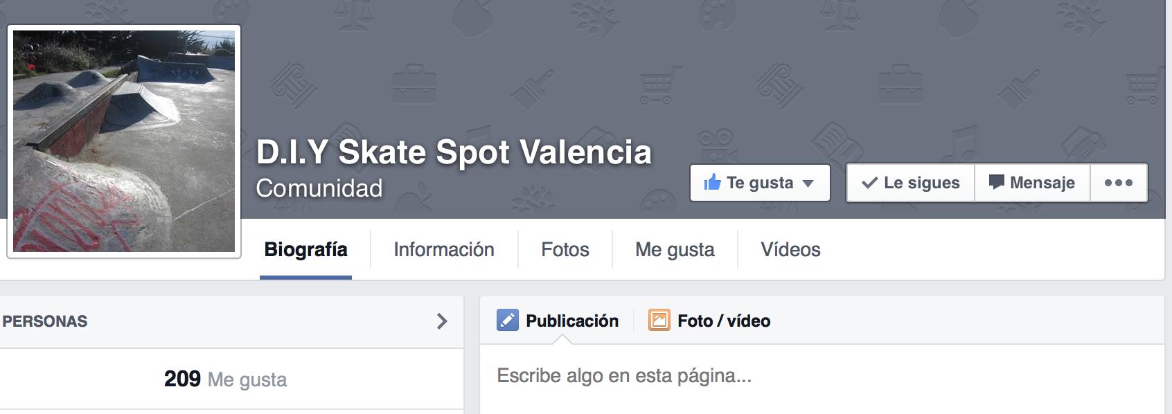 Quieres tener un nuevo skatepark en valencia pues hagmoslo entre foto pgina de facebook do it yourself valencia solutioingenieria Gallery