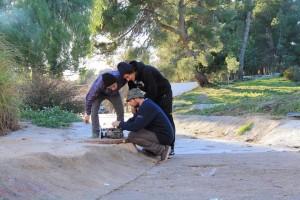Skaters contentos con lo que han grabado