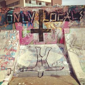 Graffiti Only locals skateboard