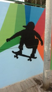 skateboarding-Graffiti-urban-art-painting-skater-ollie-off-the-wall-sex-and-skate-and-rocknroll