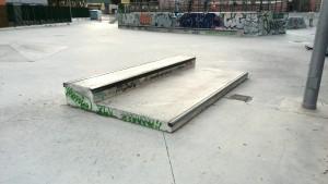 Manual Pad y pirámide skatepark de Murcia