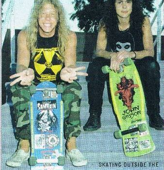 SKATEBOARDING JAMES HETFIELD METALLICA