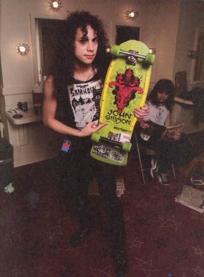 Kirk Hammett con su tabla