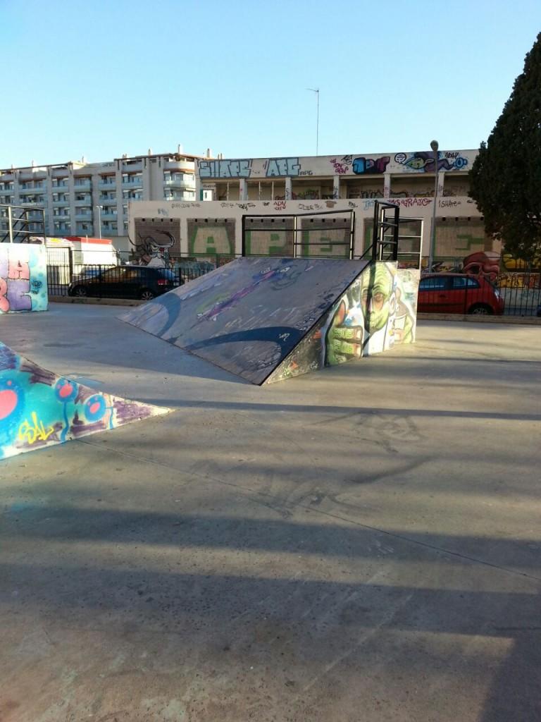 Planos inclinados skatepark La Vall d´Uixó