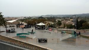 Vista general del skatepark de Jávea (Alicante)