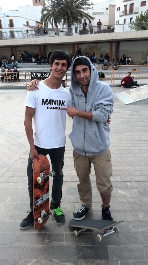 Cristian Alcolea con Dani Delgado Bermúdez skate Javea skatepark-sex-and-skate-and-rocknroll