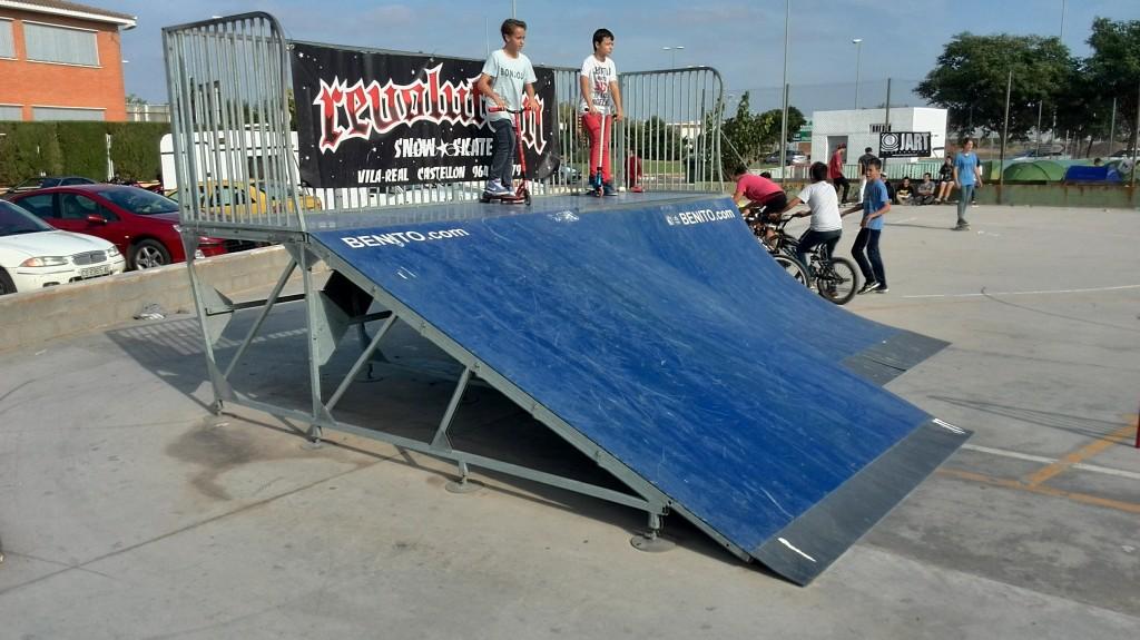 Plano inclinado y quarter Villarreal skatepark
