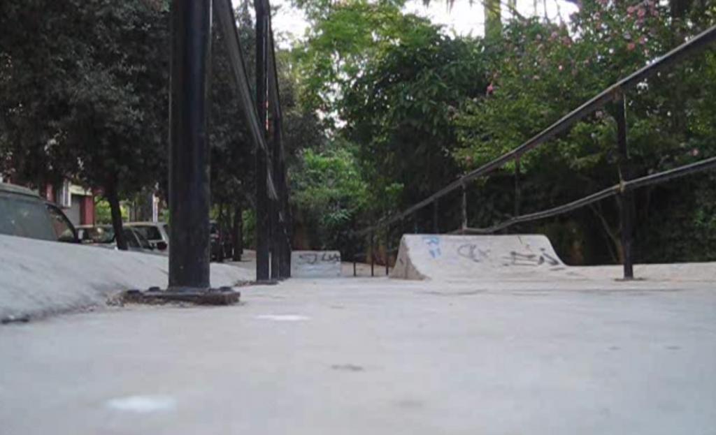 Rampa en bajada de Jardín de Ayora (antes de ser destruida)