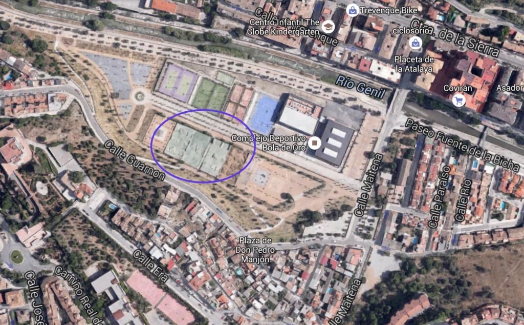 Foto-mapa-localización-cómo-llegar-al -Bola-de-oro-skatepark-Granada