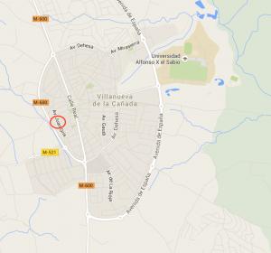 Mapa-localización-skatepark-villaniueva-de-la-cañada-skateplaza