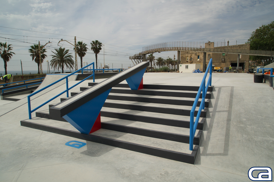 Skate-Agora-Barcelona-Badalona-big-section-skatepark-SLS-street-league