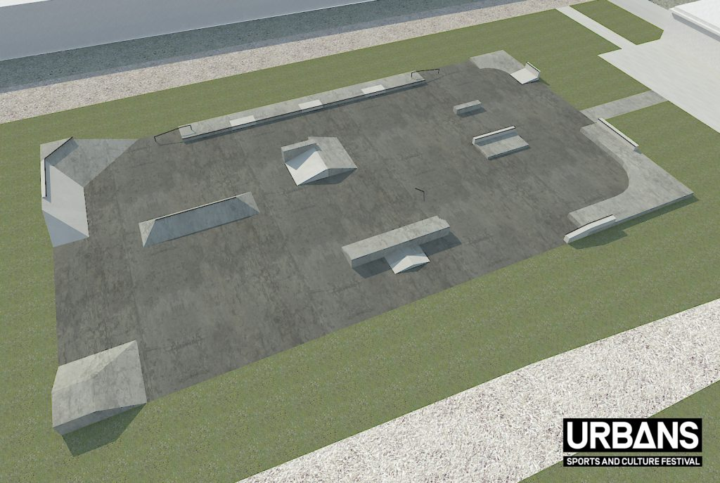 Plano actualizado del skateplaza de Valencia