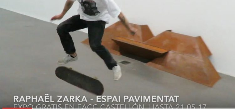 INDOOR SKATEPARK en Castellón de Raphaël Zarka hasta el 21 de mayo
