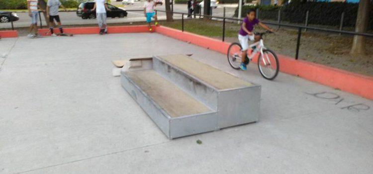 Módulos prefabricados en el skatepark de Tres Cruces (Valencia)