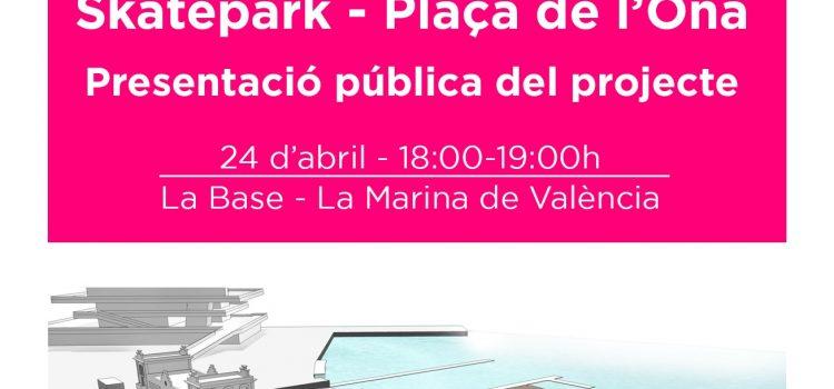 Presentación pública del Skatepark de La Marina (24 abril a las 18:00h)